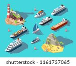 isometric ships. boats and... | Shutterstock .eps vector #1161737065
