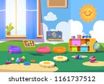 kindergarten room. empty... | Shutterstock .eps vector #1161737512