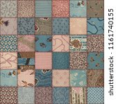 Country patchwork quilt seamless texture, 3d illustration