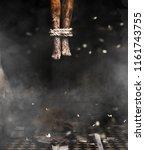 devil's legs 3d illustration of ... | Shutterstock . vector #1161743755