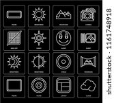 set of 16 icons such as cloud ...