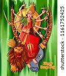 vector design of indian goddess ... | Shutterstock .eps vector #1161752425