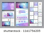 website template design with... | Shutterstock .eps vector #1161756205