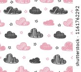 hand drawn seamless pattern... | Shutterstock .eps vector #1161762292