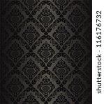 charcoal seamless  wallpaper  ... | Shutterstock .eps vector #116176732