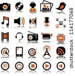 set from 25  twenty five ... | Shutterstock .eps vector #116177068