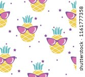 seamless pattern with pineapple ... | Shutterstock .eps vector #1161777358