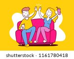 vector illustration of happy... | Shutterstock .eps vector #1161780418