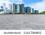 blue sky  empty marble floor... | Shutterstock . vector #1161786802