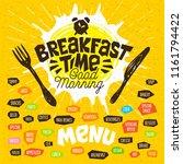 breakfast time  good morning ... | Shutterstock .eps vector #1161794422
