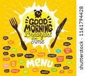 breakfast time  good morning ... | Shutterstock .eps vector #1161794428