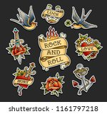 old school tattoo stickers... | Shutterstock .eps vector #1161797218