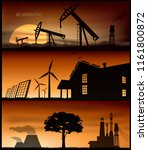 set of energy banner for poster ... | Shutterstock .eps vector #1161800872