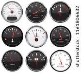 car dashboard gauges.... | Shutterstock .eps vector #1161806632