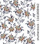 all over vector flowers pattern   Shutterstock .eps vector #1161808462