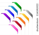 corner ribbons in various... | Shutterstock .eps vector #116181022
