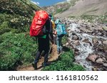 campaign to mountains | Shutterstock . vector #1161810562