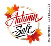 autumn sale banner template... | Shutterstock .eps vector #1161811735