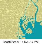 tokyo bay area road map  | Shutterstock .eps vector #1161812692