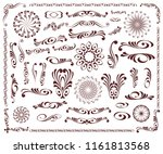 decorative elements  borders ... | Shutterstock .eps vector #1161813568
