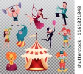 isolated circus tent  camp or... | Shutterstock .eps vector #1161821848