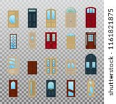 home or house wooden or wood... | Shutterstock .eps vector #1161821875