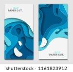 paper cut design concept for... | Shutterstock .eps vector #1161823912