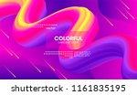 wave flow shape. abstract 3d... | Shutterstock .eps vector #1161835195
