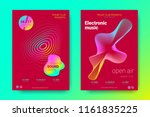 flyer of electronic music night ... | Shutterstock .eps vector #1161835225