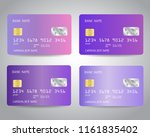 realistic detailed credit cards ... | Shutterstock .eps vector #1161835402