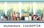 people in coworking office.... | Shutterstock .eps vector #1161839728