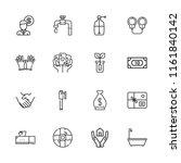 collection of 16 hand outline... | Shutterstock .eps vector #1161840142