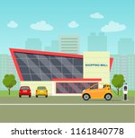 red  ompact electric car.... | Shutterstock .eps vector #1161840778