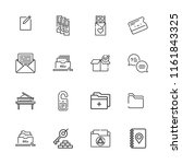 collection of 16 open outline... | Shutterstock .eps vector #1161843325