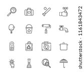 collection of 16 handle outline ... | Shutterstock .eps vector #1161843472