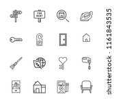 collection of 16 house outline... | Shutterstock .eps vector #1161843535