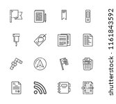 collection of 16 mark outline... | Shutterstock .eps vector #1161843592