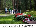 the family came to honor the... | Shutterstock . vector #1161847258