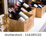 Wine Bottles In Wooden Boxes...