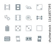 roll icon. collection of 16... | Shutterstock .eps vector #1161857395