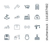 heavy icon. collection of 16...   Shutterstock .eps vector #1161857482