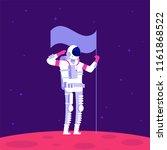 mars colonization. astronaut...   Shutterstock .eps vector #1161868522