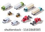 isometric truck. transportation ...   Shutterstock .eps vector #1161868585