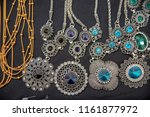gold jewelry decorated with... | Shutterstock . vector #1161877972