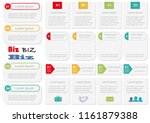 set of assorted inforgraphic... | Shutterstock .eps vector #1161879388