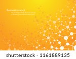 science background   molecule... | Shutterstock .eps vector #1161889135