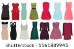 vector  isolated  set of dresses | Shutterstock .eps vector #1161889945