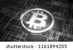silver and glass bitcoin sign...   Shutterstock . vector #1161894205