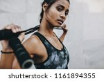 close up of a woman athlete in... | Shutterstock . vector #1161894355