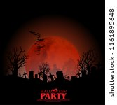 halloween layout cover.... | Shutterstock .eps vector #1161895648